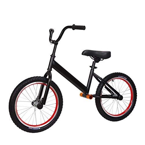 Bicicletas sin Pedales Bicicleta de Equilibrio Grande con Neumáticos de Aire de 18 Pulgadas, Bicicleta de Entrenamiento Sin Pedales con Marco de Acero para Niños Grandes, Niños, Niñas, Regalo - Altura