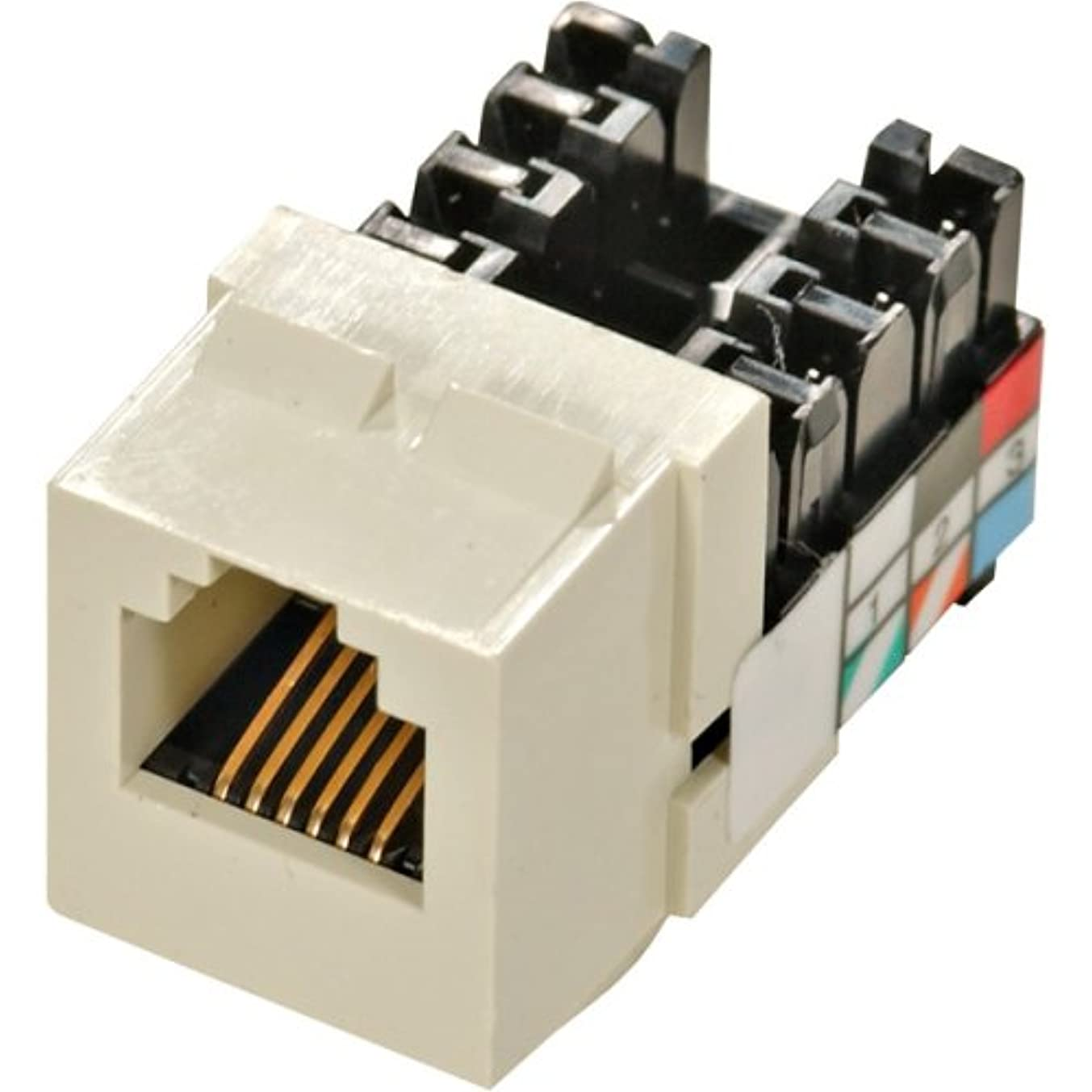 Leviton Quickport 6 Position, 6 Conductor Voice Grade Jack, Almond