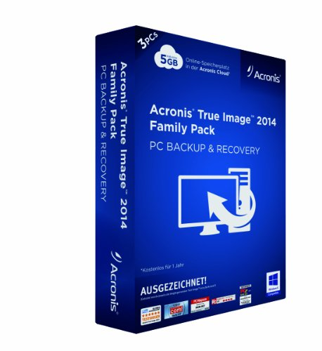 Acronis True Image 2014 - 3PCs Family Pack