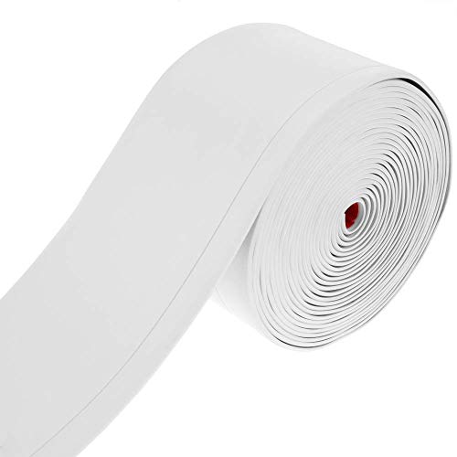 PrimeMatik - Rodapié Flexible Autoadhesivo 70 x 20 mm. Longitud 5 m Blanco