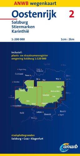 Oostenrijk: Salzburg, Stiermarken, Karinthië schaal 1:200:000 2