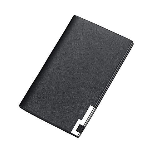 Portatarjetas Multifuncional Para Oficina De Negocios, Exquisito Portatarjetas Ultradelgado De Gran Capacidad, Conveniente Para Llevar Y Viajar Fácilmente,Negro
