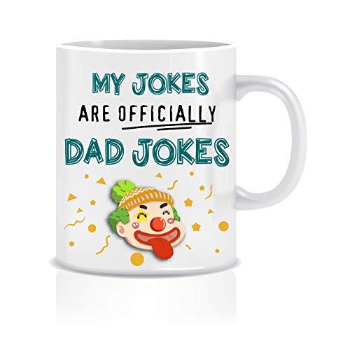 N\A Mis bromas Son Oficialmente bromas de papá, papá, Taza de café Divertida, Taza para papá, Regalos de Padre expectante, Regalo de Padre Esperando, Regalo de Padre Esperando, Taza d