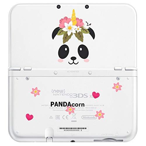 Coque New 3DS XL Panda Corn Fleur Coeur Cute Kawaii Transparente
