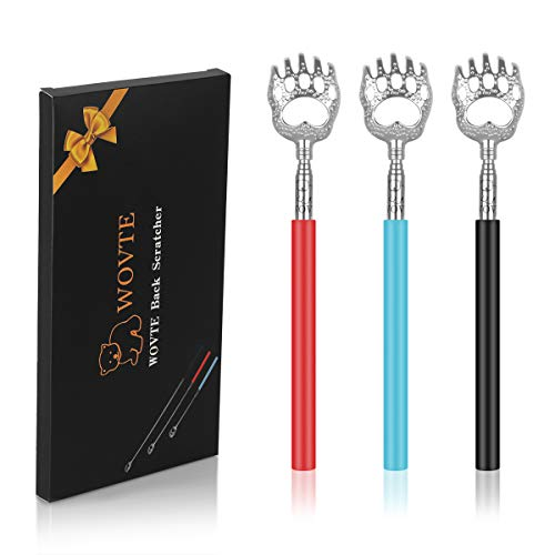 WOVTE Bear Claw Telescopic Back Scratcher Pack of 3