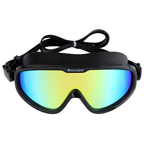 Abaodam Gafas de natación impermeables antivaho prácticas protectoras de ojos unisex, color negro