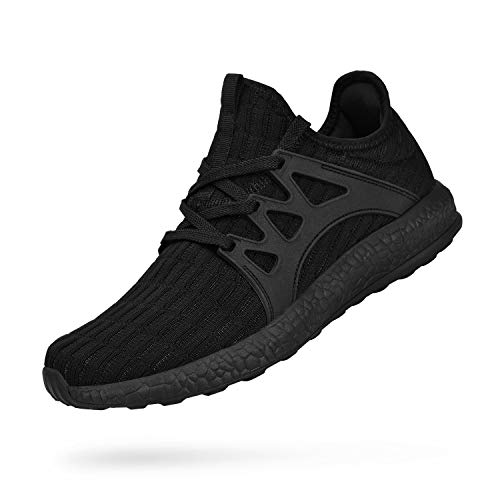 Biacolum Men's Non Slip Work Shoes Breathable Zapatos Tennis Running Walking Athletic Sneakers Tenis para Hombres Black New Size 11