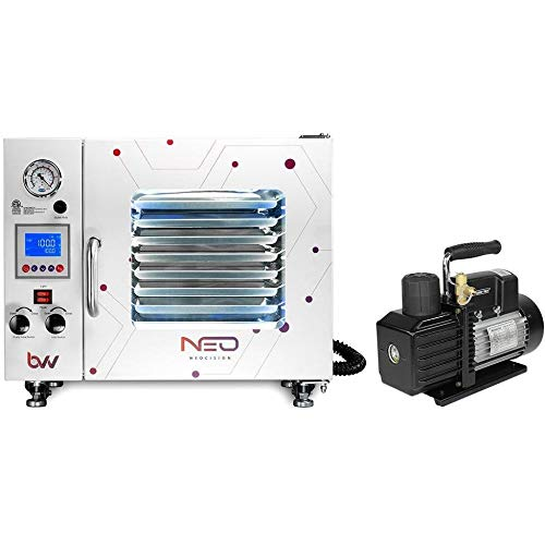 BVV 0.9CF BVV Neocision Lab Certified Vacuum Oven and VE225 Series 4 CFM Two Stage Vacuum Pump Kit