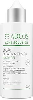 Adcos Acne Solution Loção Secativa FPS30 Incolor 50ml