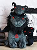 Ebros Gift Mythical Fantasy Greek Chimera Beast Lion with Goat Head and Serpent Tail Luxe Soft Plush Toy Doll 10.25' Tall Gargoyle Fantasy Alchemy Magic Collectible Dolls Plushes Toys