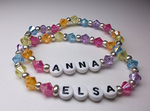 Personalized name bracelet girls beaded name bracelet party favors
