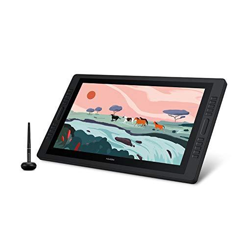 HUION 2020 Neuer KAMVAS Pro 24 Grafiktablett mit Display 23.8 Zoll Grafikmonitor mit 2.5K (2560 x 1440) QHD-Auflösung 20 Drucktasten und Dual-Touch-Leiste Ideal für Home-Office & Fernunterricht