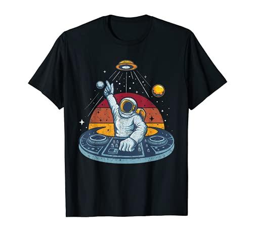 Astronaut DJ Space Music Spaceman Moon Mars Planet Astronaut Camiseta