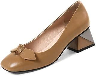 BalaMasa Womens Solid Bows Charms Urethane Pumps Shoes APL11192