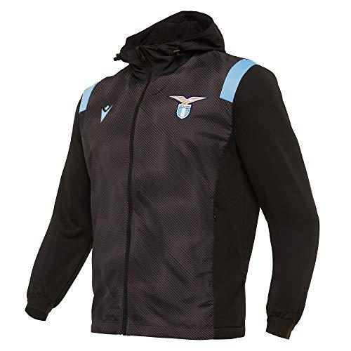 Macron SSL M20 Anthem Jacket Invernale Full Zip NER/Celf SR, SS Lazio 2020/21 Uomo, Nero, XL