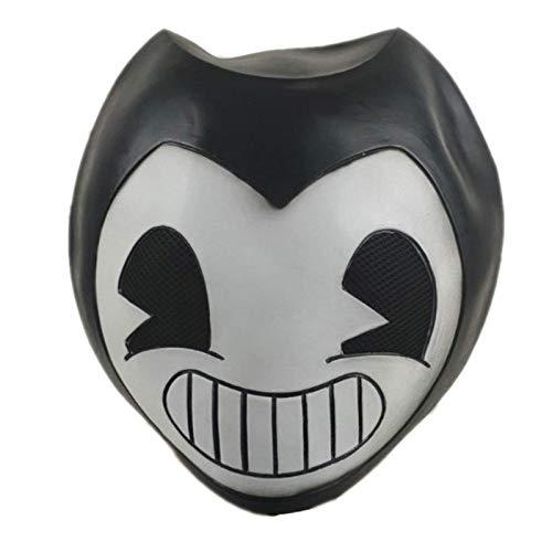 N\C Máscara de Halloween Máscara Flexible de látex Máscara de Cosplay de Halloween Bar Fiesta de Baile Juega Juego Máscara de Sombrero Flexible