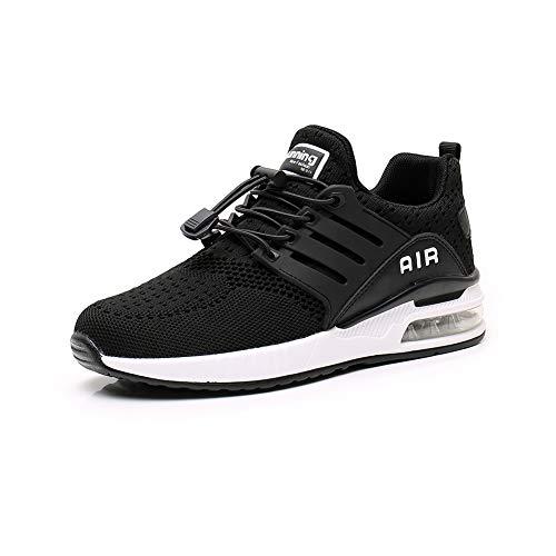 Chaussures de Course Homme Femme légères Sneakers Chaussures de Sport Respirantes et Antichocs Basket Fitness Jogging Black42