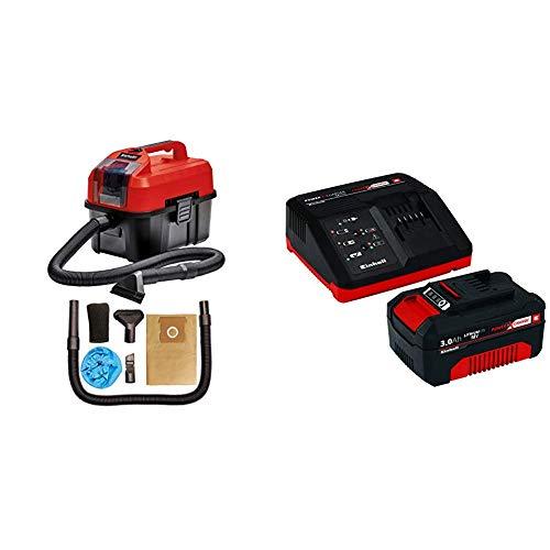 Einhell 2347160 TE-VC 18/10 Li-Solo Akku-Nass-Trockensauger + Starter Kit Akku und Ladegerät Power X-Change