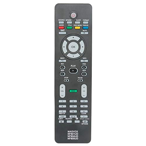 Replacement Remote Applicable for Magnavox TV 32MD350B 32MD350B/F7 26MD311B 32MD301B 26MD301B 32MD311B 22MD311B 19ME601B 22MD311B/F7 19MD311B/F7 32MD359B 26MD350B 19MD350B/F7 37MD311B/F7 37MD359B/F7