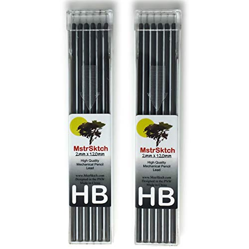 MstrSktch HB Lead Refills for 2mm Mechanical Pencil - 2 Pk, 12 Leads each