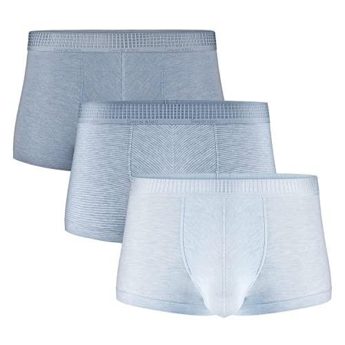 Separatec Herren Boxershorts Soft Micro Modal mit separaten Doppeltaschen Unterwäsche 3er Pack Boxershorts Ultra Bequeme, leichte Badehose