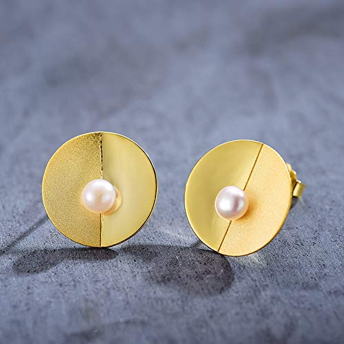 THTHT Vintage lange oorbellen van sterling zilver S925 dames parels Freshwater Charme Chinese temperament, elegant cadeau, hoge kwaliteit, lange oorbellen Gouden