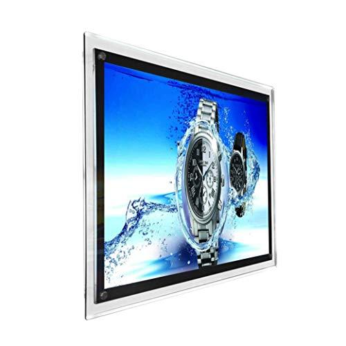 A1LED Kristall Bilderrahmen Werbung Display für Wand montiert Sign Halter