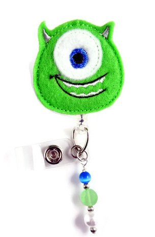 Mike Monster Inspired - Nurse Badge Reel - Retractable ID Badge Holder - Nurse Badge - Badge Clip - Badge Reels - Pediatric - RN - Name Badge Holder