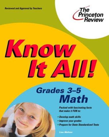 Download Know It All! Grades 3-5 Math (K-12 Study Aids) 0375763759