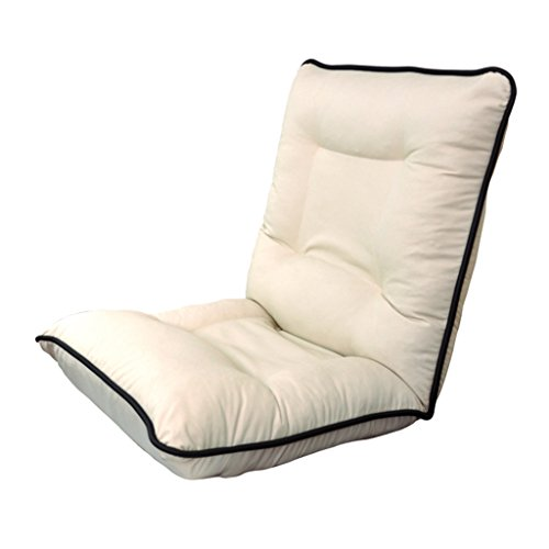 PU Lazy canapé chaise pliante réglage multiple de l'angle Protection du dos haut dos (Color : A White)