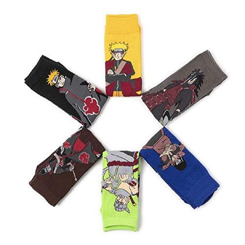 TIMSOPHIA Calcetines unisex para disfraz de anime cosplay (6 pares)