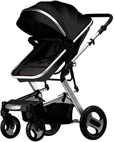 YZPDD Cochecito de bebé Carrera Infantil Sistema de Viaje Paraguas de Paraguas livianas con Canasta con Canasta de bebé (Color : C)