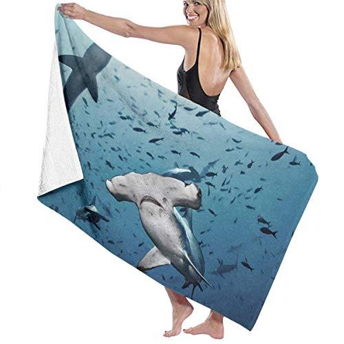 TYHJU Hammerhead Shark Strandtuch Badetuch Maximale Weichheit und Saugfähigkeit für den täglichen Gebrauch Outdoor Sports Travel Swim