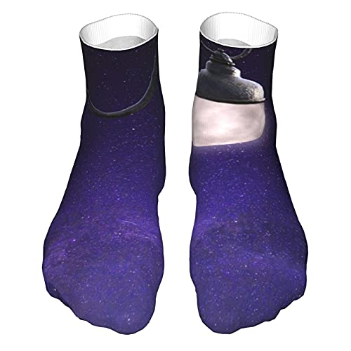 OUYouDeFangA Cielo estrellado Luna lámpara calcetines adultos algodón gimnasio calcetines cortos para yoga senderismo ciclismo correr fútbol deportes