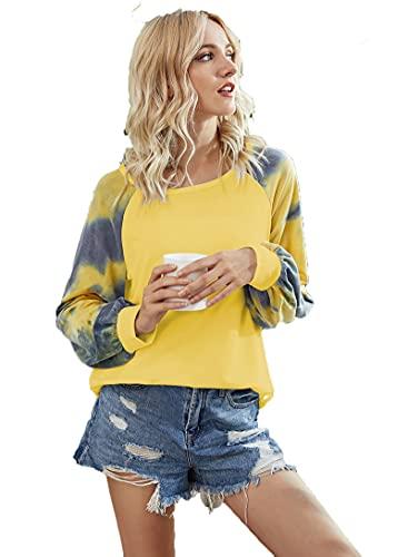SLYZ Suéter De Mujer del Todo-fósforo De La Moda De La Impresión De La Camiseta De Manga Larga del Resorte De Las Señoras