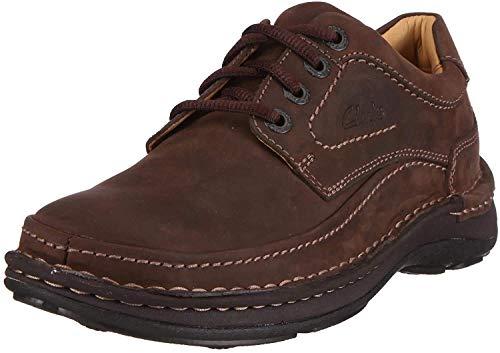 Clarks Zapatos casual cuero nobuck hombre, marrón