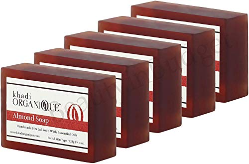 Jabón de almendras Khadi 125G (paquete de 5) (el empaque puede variar)