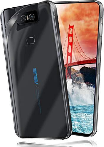 moex Aero Hülle für Asus Zenfone 6 (2019) - Hülle aus Silikon, komplett transparent, Handy Schutzhülle Ultra dünn, Handyhülle durchsichtig - Klar