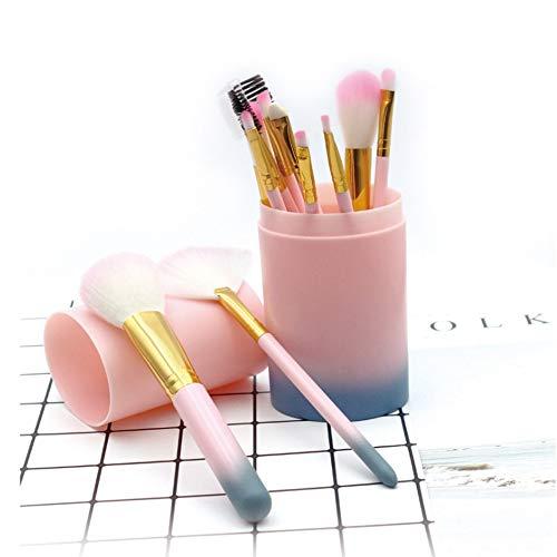 HBBOOI 12pcs pinceaux de maquillage premium Pinceau fond de teint Blending poudre for le visage Cosmétiques Blush maquillage for les yeux Kits Pinceau grand choix et cadeau for les filles
