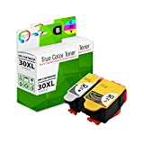 TCT Compatible Ink Cartridge Replacement for Kodak 30XL 30 XL High Yield Works with Kodak ESP C110 C310 C315, Office 2150 Printers (Black, Tri-Color) - 2 Pack