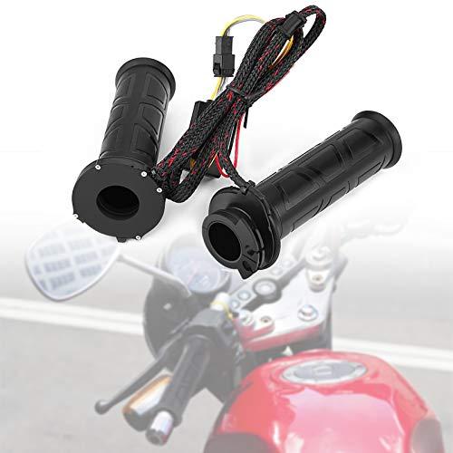 Puños Calefactables de Moto, Manillar Calefactado para Moto, Puños de Calefacción Universales de 22 Mm, para Moto, Bicicleta, ATV (1 Par)