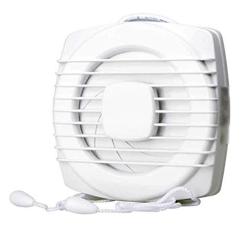 Ventilador extractor de baño, ventilador extractor de cocina, 6 pulgadas, ventana, ventilador, cuarto de baño, cordón de sujeción, sello silencioso, para cocina