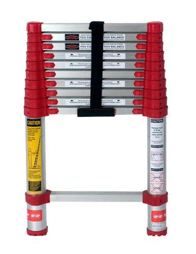 Xtend & Climb 760P Xtend+Climb Telescoping Extension Ladder, 225 Lb, 1-1/2 In, 10.5 ft, Red