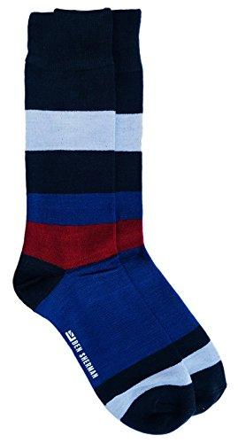 Ben Sherman Herren Crew-Socken, breit, gestreift, Rot / Weiß / Blau