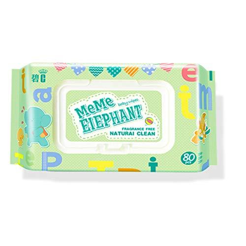 Koehope Flushable Wet Wipes voor alcoholvrije baby's zonder geur Flip-Top 80 doekjes per verpakking