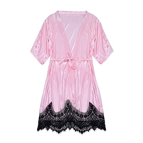 Sayla Sexy Erotische Kleidung Damen UnterwäSche Erotik Mode Seidene Kimono Satin Bademantel Dessous Nachthemd Pyjamas Robe
