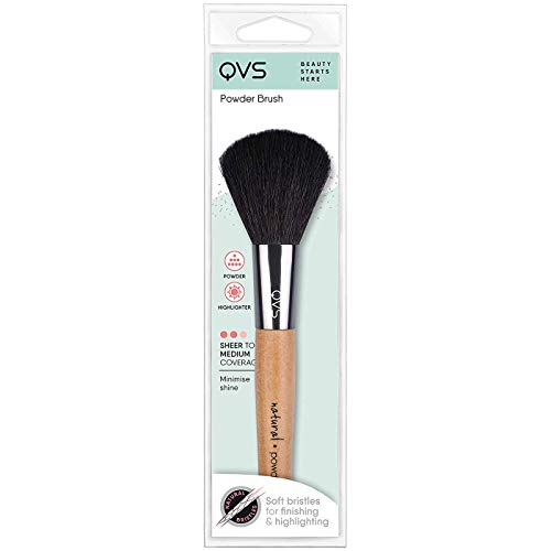 QVS Puderpinsel Brush Rouge Naturhaar Bürste
