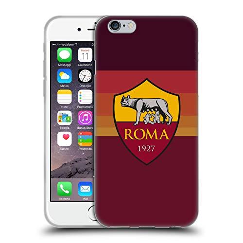 Head Case Designs Ufficiale AS Roma in Casa 2020/21 Kit Crest Cover in Morbido Gel Compatibile con Apple iPhone 6 / iPhone 6s