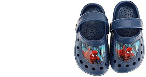 Spiderman Jungen Boys Sandalen Pantoffeln Schuhe Badeschuhe hellblau (23/24)