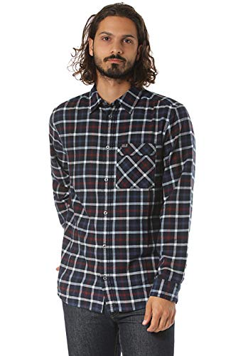 Jack Wolfskin Fraser Island Shirt Homme, Night Blue Checks, FR (Taille Fabricant : XL)